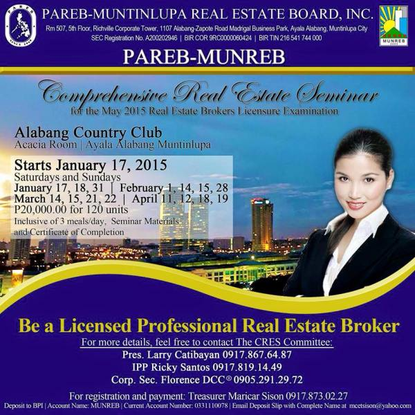 Philippine Real Estate Seminar and Review Class